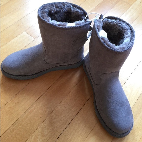 Gap Grey Boots with Soft Fluffy Lining